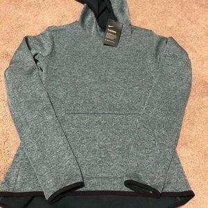 NWT Nike Therma Green Hooded Sweatshirt